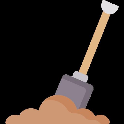 Brolægning, entreprenør skovl i jord